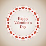 Happy Valentine's Day lettering Greeting Card Stock Photography