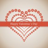 Happy Valentine's Day lettering Greeting Card Stock Photo
