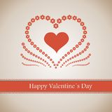 Happy Valentine's Day lettering Greeting Card Royalty Free Stock Images