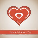 Happy Valentine's Day lettering Greeting Card Royalty Free Stock Image