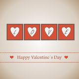 Happy Valentine's Day lettering Greeting Card Stock Images
