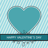 Happy Valentine's Day lettering Greeting Card with heart , vecto Royalty Free Stock Photo