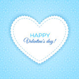 Happy Valentine's Day lettering Greeting Card Royalty Free Stock Photography
