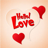Happy Valentines Day lettering Greeting Card on paper background Stock Photos