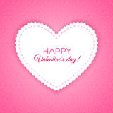 Happy Valentine's Day lettering Greeting Card Royalty Free Stock Photos