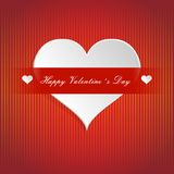 Happy Valentine's Day lettering Greeting Card on red Royalty Free Stock Image