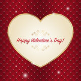 Happy Valentine's Day lettering Greeting Card on red background. Stock Image