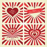 Happy Valentine's Day lettering Greeting Card. Set of cards. Stock Image
