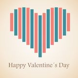 Happy Valentine's Day lettering Greeting Card Stock Photos