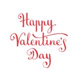 Happy Valentine's Day lettering Stock Photography
