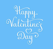 Happy Valentine`s Day lettering Stock Images
