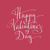Happy Valentine's Day lettering Royalty Free Stock Images