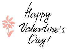 Happy valentine`s day  lettering. vector  Stock Photos