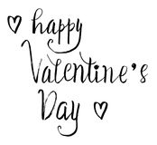 Happy valentine`s day  lettering. vector  Royalty Free Stock Images