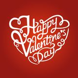 Happy Valentine`s Day lettering Royalty Free Stock Image