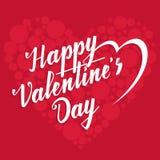 Happy Valentine's Day lettering Stock Photo