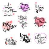 Happy Valentine`s Day, lettering Stock Photos