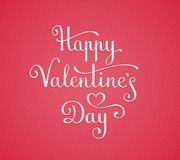 Happy Valentine's Day lettering Stock Photos