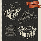 Happy Valentine's Day lettering in vintage styled design. Stock Image