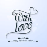 Happy valentine's day with Love  beautiful text card  Royalty Free Stock Image