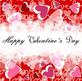 Happy valentine s day. Love hearts on a background vector illustration