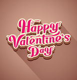 Happy valentines day modern message Stock Photography