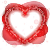 Happy Valentine's Day Neon Heart Royalty Free Stock Photos