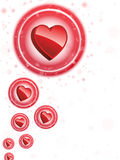 Happy Valentine's Day Neon Heart Bubbles Royalty Free Stock Photography