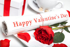 happy valentine's day newspaper Royalty Free Stock Images