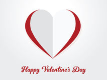 Happy Valentine's Day, paper heart cut out Royalty Free Stock Photography