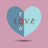 Happy Valentine`s Day, paper hearts or greeting card. Vector fes Stock Photos