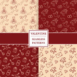 Happy valentine's day pattern set. Valentine seamless pattern. V Stock Images