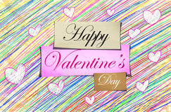 Happy Valentine's Day Pencil Color. Colorful Royalty Free Stock Photography