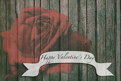 Happy Valentine's Day Phrase Note Message for Postcard Greeting Card Royalty Free Stock Photography