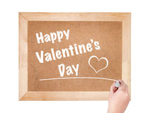 Happy Valentine's day the phrase written on the blackboard Stock Photography