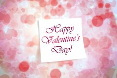 Happy Valentine`s Day background. Happy Valentine`s Day pink background royalty free illustration