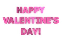 Happy Valentine's Day! in Pink and Purple Royalty Free Stock Photo