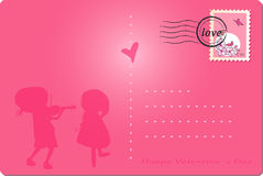 Happy valentine`s day post card Royalty Free Stock Photography