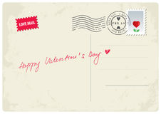 Happy Valentine's Day postcard Royalty Free Stock Image