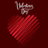 Happy valentine`s day poster Stock Images