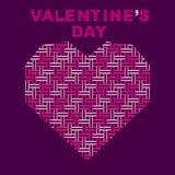 Happy valentine`s day poster design Stock Photos