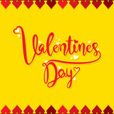 Happy valentine`s day poster design Stock Images