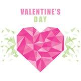 Happy valentine`s day poster design Stock Image
