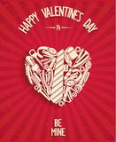 Happy Valentines Day Poster Royalty Free Stock Photos