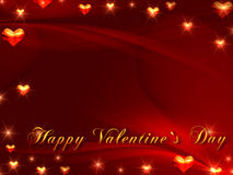 Happy valentine\'s day in red Royalty Free Stock Photos