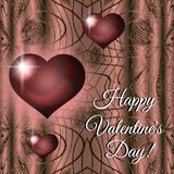 Happy Valentine`s Day red heart card royalty free stock photos
