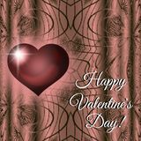 Happy Valentine`s Day red heart card stock images