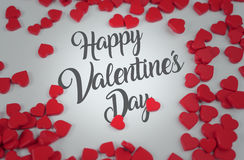 Happy Valentine`s Day Red Love Candy 3D Rendering. Design Stock Photos