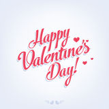 Happy Valentine's Day retro card. Happy Valentine's Day Hand Lettering - Typographical Background Stock Images