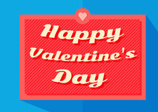 Happy Valentine`s Day retro typography banner VECTOR. Baner Vector illustration for Valentine`s Day Royalty Free Stock Photos
